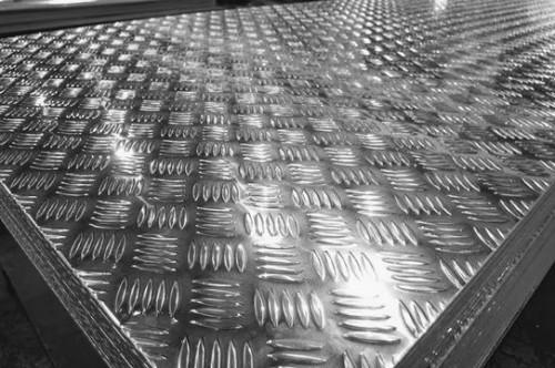 Chapas naval, lisa e xadrez de alumínio